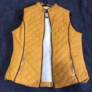 Quilted Sherpa lined vest